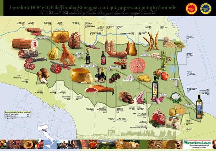 MAPPA_DOP_IGP Emilia Romagna