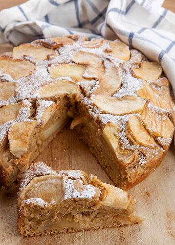 Torta di mele ricetta con lievito madre