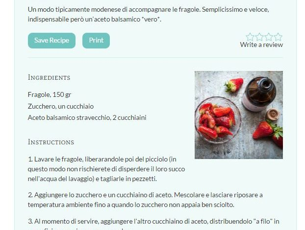 Recipe Card Plugin Wordpress