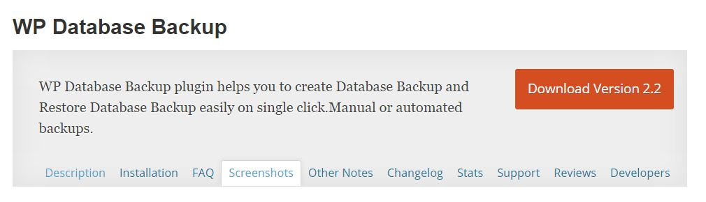 wp database plugin