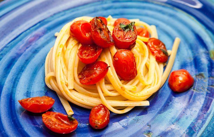 Pasta colatura di alici e pomodorini